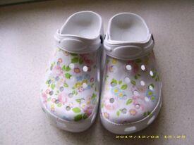 Ladies Fancy Clogs size 5