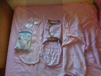 3 pink summer infant swaddle blankets