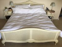 King size bed, bedside tables and dressing table set