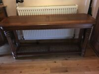 solid wood console table for sale