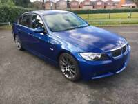 Bmw 320d M Sport 2008 57 Reg 4 door saloon manual Le Mans blue clean tidy car 2 former keepers