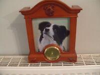 Border Collie clock by John Silver Danbury Mint