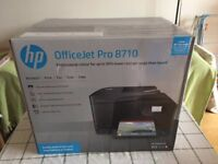 New Unboxed HP OfficeJet Pro 8710 Wireless All-in-One Printer Print Fax Copy Scan Double Sided Paper