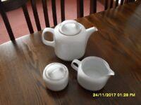 Eschenbach China and Platinum Tea Set