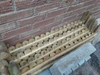 Timber/Wooden edging x7 - Unused