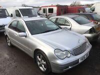 Mercedes c 220 cdi spare parts available diesel door wing bumper bonnet alloy wheels ecu set