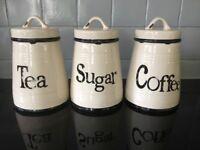 Tea coffee sugar canisters