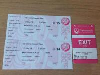 Two G4 Concert tickets & Parking Ticket