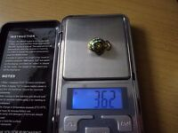 New boxed 14ct gold drop ( egg ) pendant, 3.6g. Swindon