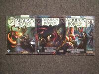 Arkham Horror Board Game Base + Dunwich + Innsmouth + Extras