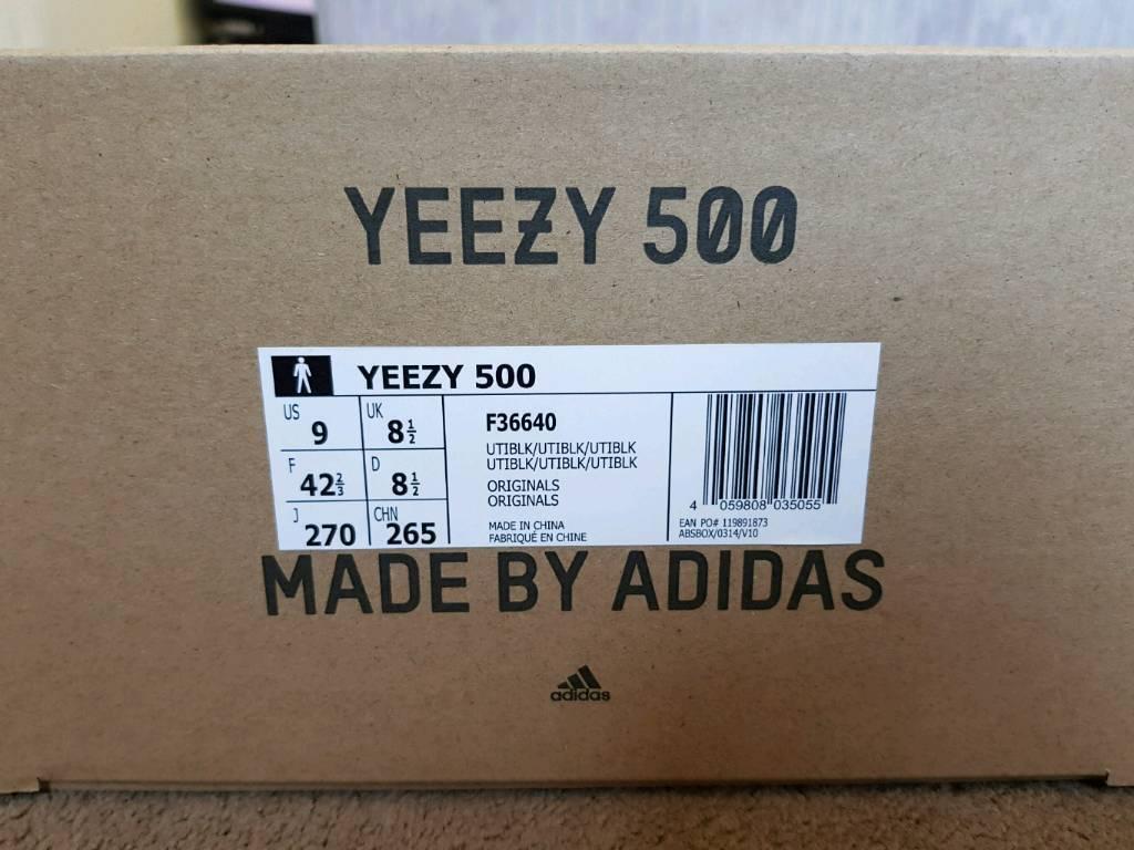 9e509e909e3 Yeezy 500 Utility Black Dessert Rat Adidas Trainers