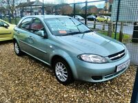 2007 Chevrolet lacetti sx 1.6 petrol only 34.000 miles one owner from new