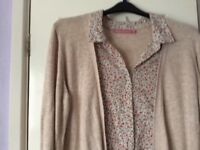 Next cardigan with blouse insert