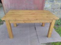 Handmade reclaimed pine table