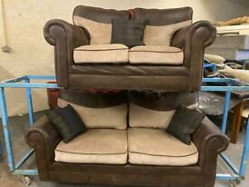 HARVEYS NICE FABRIC SOFA SET IN EXCELLENT CONDITION 3+2 seater
