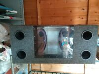 Dual 10 inch Whoofer Speaker Box in West London Area