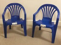 Two Plastic Childs Chair Blue