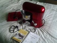 Andrew James Food Mixer completer with cover, instructions and Cookbook