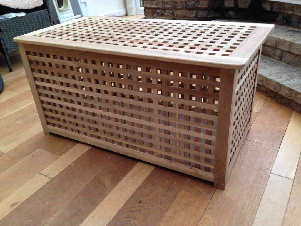 Wooden Storage Chest From Ikea Hol In Natural Wood Headley