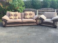 Large Sofa Settee with Matching Chair