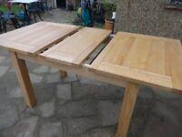 SOLID OAK EXTENDING DINING TABLE - 120cm - CHEADLE RANGE