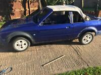 Escort mk3 xr3i cabriolet rolling shell with turbo engine/box and loom