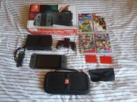 Nintendo Switch, 4 Games & Carry Case