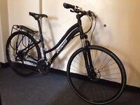 Beautiful Specialized Ariel Ladies Hybrid road bike hydraulic disc brakes rear rack bargain
