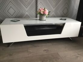 White Gloss TV Unit For Sale