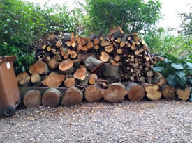 Huge pile of quality wood/logs for fire or wood burner.