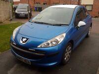 Peugeot 207/little car/sport car/blue car/little runabout/corsa/fiest/clio/bravo/jazz