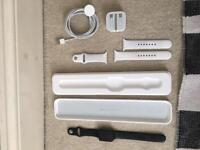 Apple Watch S1 , 42mm , with 2 straps , charger and box