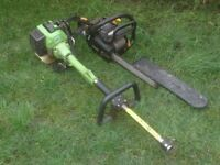 CHAINSAW AND STRIMMER ENGINE £25 AND £10 NEED REPAIR
