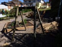 Plum wooden swing frame for babies/ toddlers