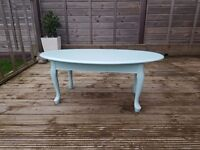 Shabby Chic Baby Blue coffee table. Roughly 1 metre in length. £10