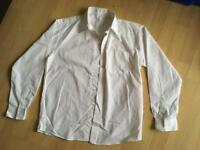 White long sleeved buttoned shirt age 12-13