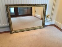 Large Mirror, Antique Style, Size: 1015mm x 715mm.