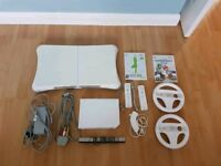 Nintendo Wii, Wii Fit, 2 controllers, 1 nunchuck and more