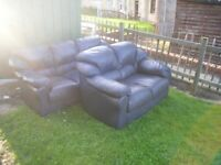 LEATHER 3 AND 2 SEATER SETTEE