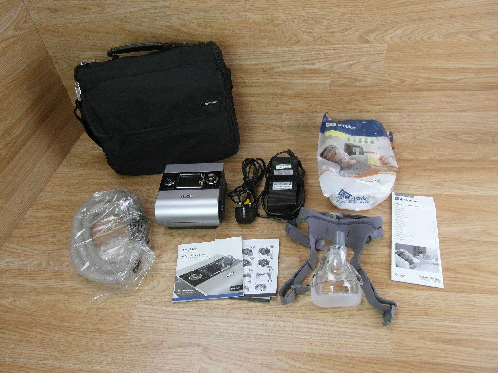 Resmed 9 CPAP Easy Breathe Machine With Mask Tubing Carry Case & Instructions