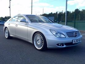 2006 56 reg Mercedes Benz CLS 3.0 CLS320d 7G-Tronic 4dr in silver - LOW MILES