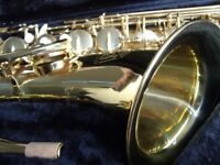 Trevor James Revolution Horn Tenor Saxophone - in perfect condition with hard case. .
