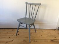 Ercol Stick Back Chair Model 391 Painted Grey Mid Century