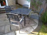 Garden table and four chairs