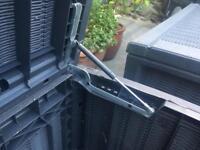 2 x Keter Glenwood plastic box - garden outside storage - rattan effect - RRP£70.00 each