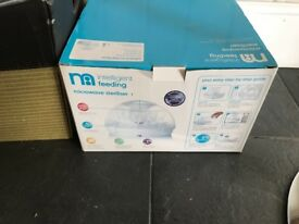 Brand new unused mothercare steriliser pod system in box