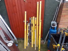 spirit levels many prices 6 foot 1s are £20 each
