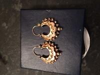9ct gold vintage creole earrings - Mother's Day gift?