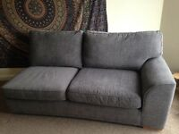 Next Grey Fabric 3 Seater Sofa (Fantastic Condition)