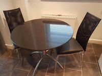 12mm thick granite top circular kitchen table and 4 chairs